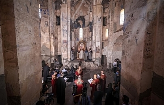 1,100-year-old Armenian church in Turkey holds 9th holy mass since reopening