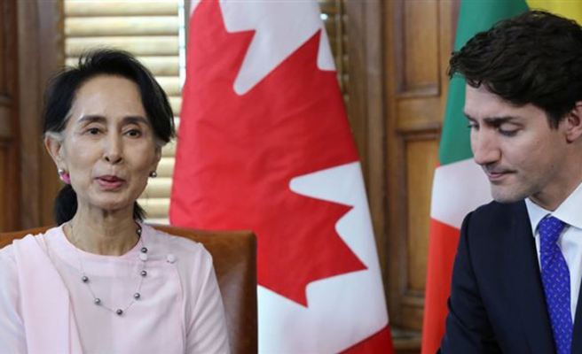 Canada to revoke honorary citizenship for Myanmar leader