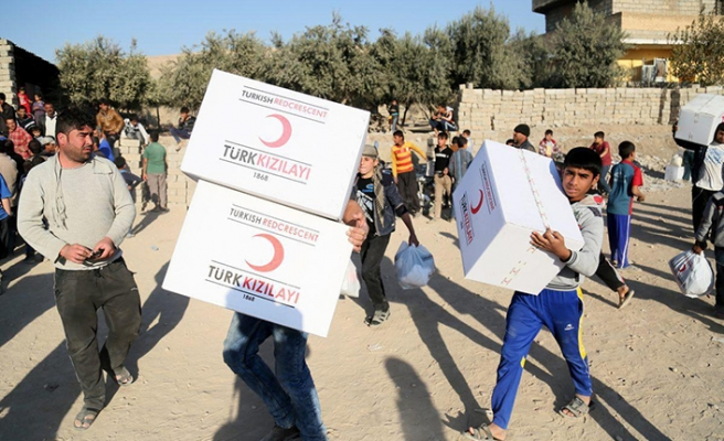 Turkish Red Crescent continues helping war-torn Syria
