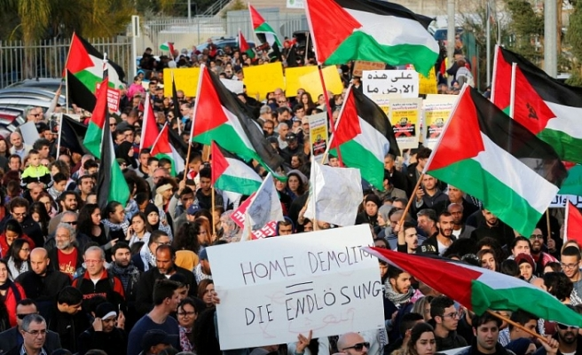 Palestinians protest Israel's home demolition
