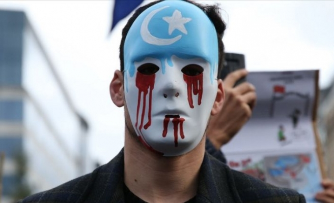 Uyghurs protest Chinese foreign minister's Turkey visit