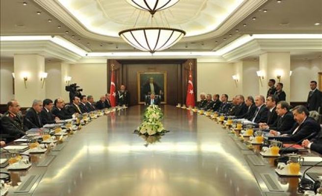 Turkey's National Security Council discusses turmoil in Arab countries