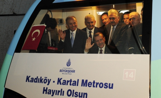 Turkish PM opens first subway line in Asian side