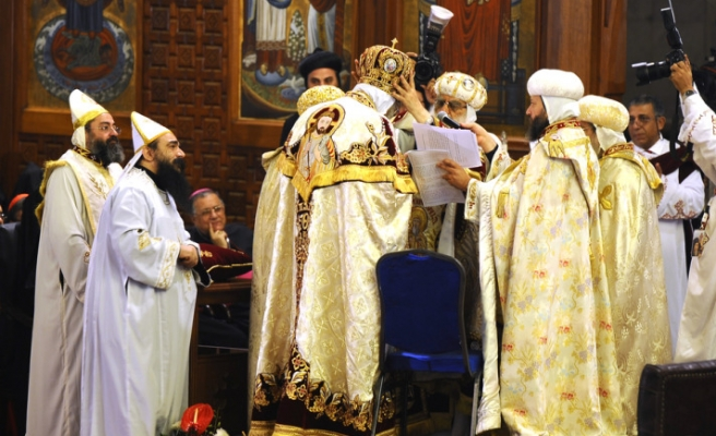 The Coptic church installs its pope in Egypt
