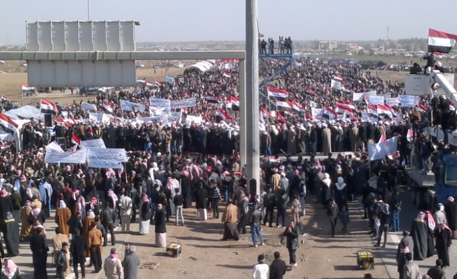 Iraq Sunnis in protest against PM Maliki / VIDEO