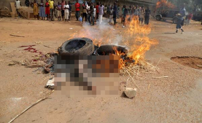Seleka rebel burned at military ceremony in C.Africa