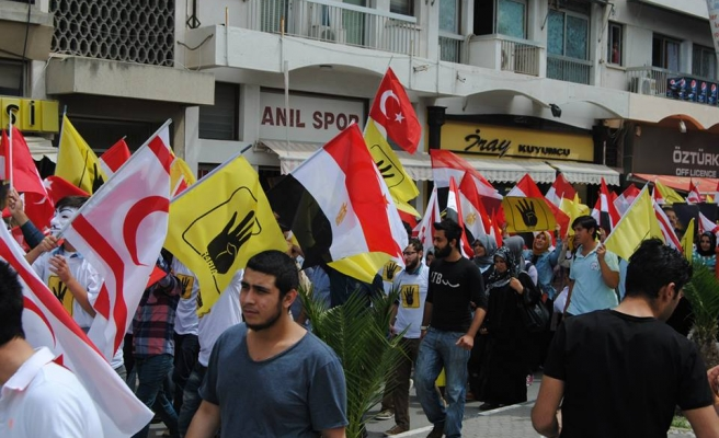 Turkish Cypriots protest against Egypt's 529 death sentences