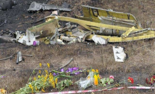 Local emergency services recover MH17 wreckage in Ukraine