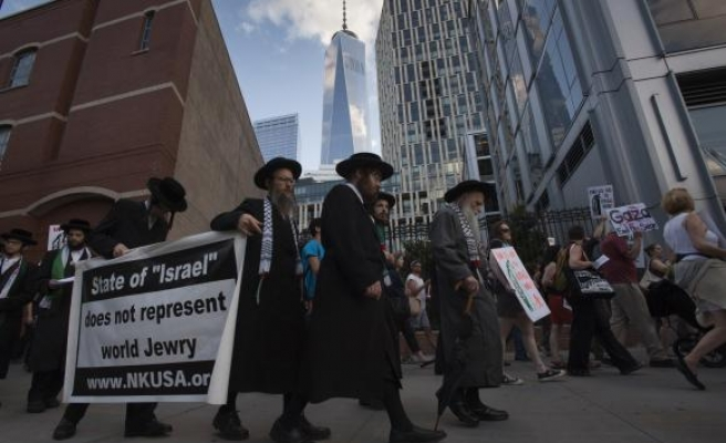 New Yorkers protest against Israeli offensive in Gaza