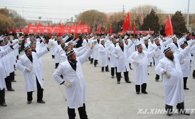 China forces imams to dance in street