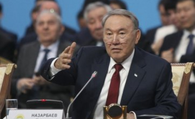 Kazakh leader says Russia-led bloc tested by oil price