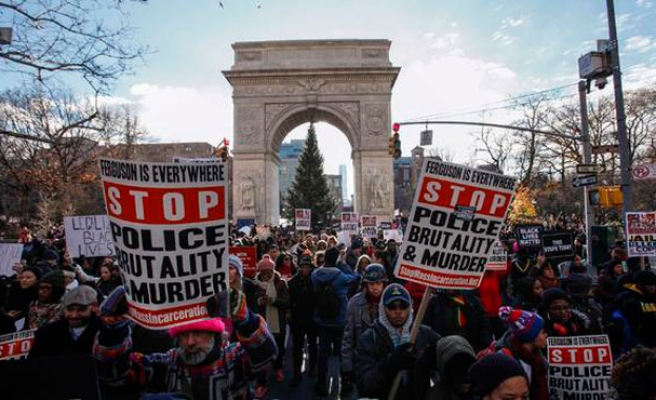 Hundreds march to protest police brutality in New York