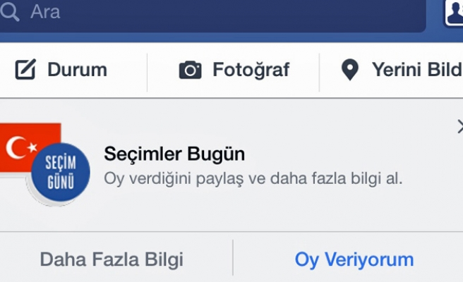 Facebook activates 'I Vote' button for Turkish elections
