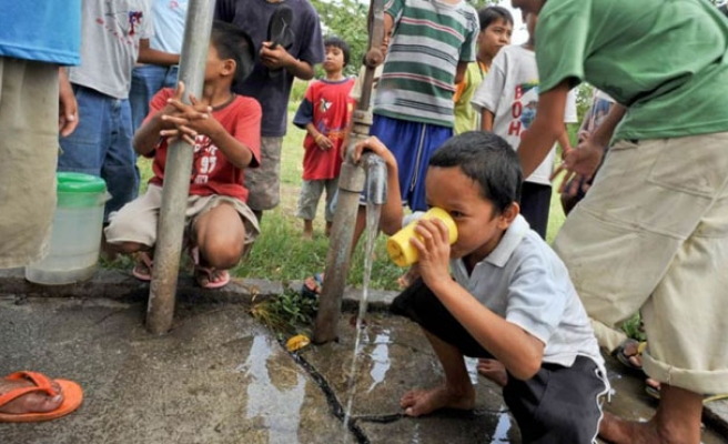 Philippine town suffers water outage