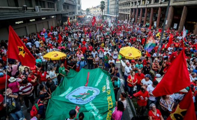 Thousands rally across Brazil in support of Rousseff