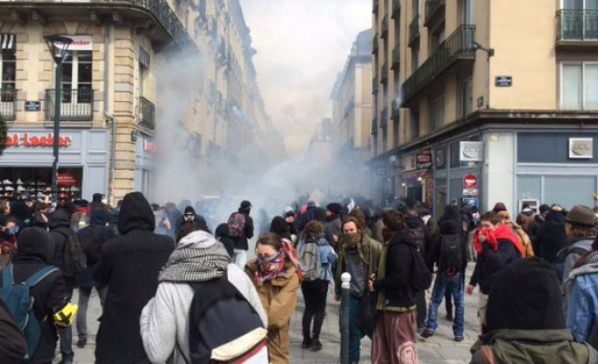 Tear gas, injuries as French reform protests turn violent