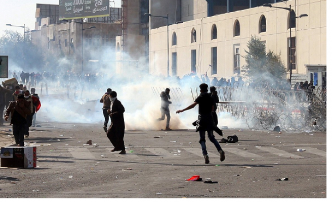 Security forces disperse demonstration in Iraq's Basra