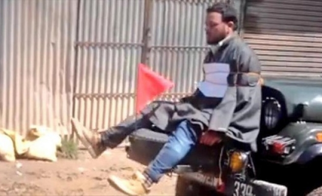 Video showing Kashmiri tied to Indian army jeep emerges