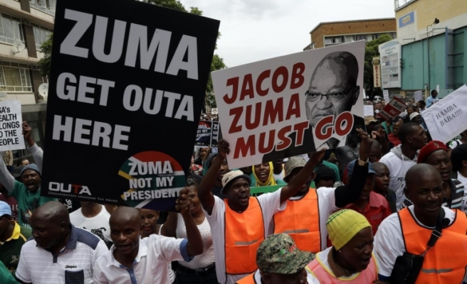 Thousands march against president in South Africa