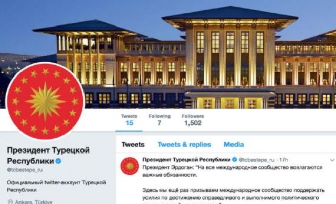Turkish Presidency launches Russian Twitter account