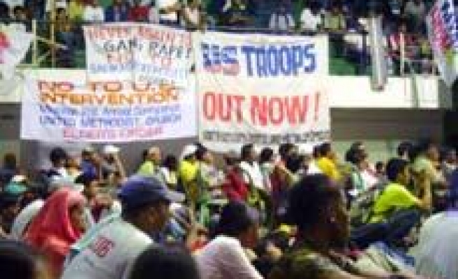 Protests Greet US Soldiers in Mindanao