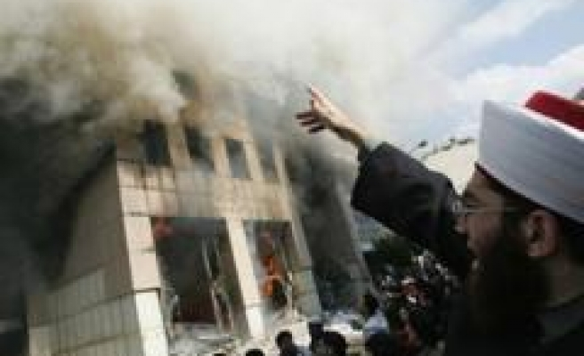 Danish mission in Beirut torched
