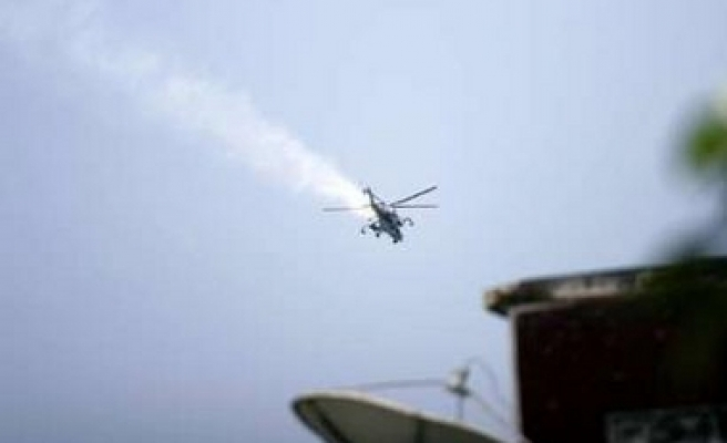 Turkish army helicopter fired on