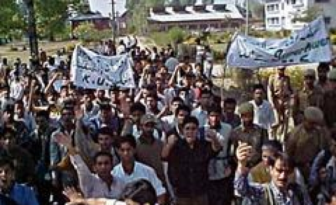 Strike, protest demonstrations in Kashmir