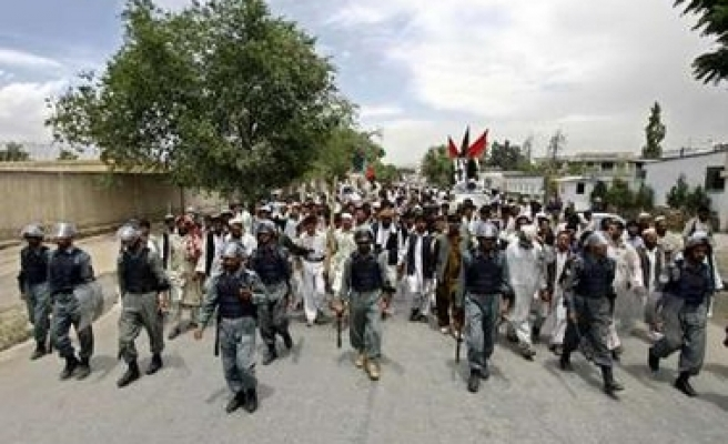 Afghans protest against Pakistan