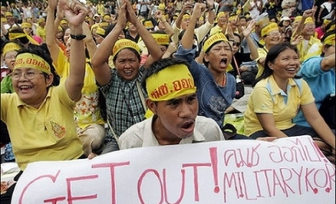 Thousands protest after Thai party dissolved