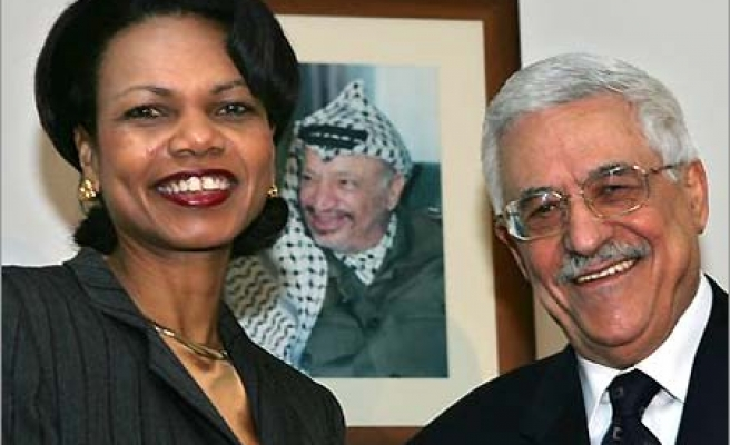 Rice's call to  Abbas