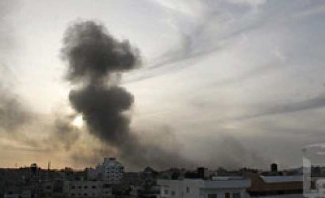 Israel bombs tunnels, marble factory in Gaza