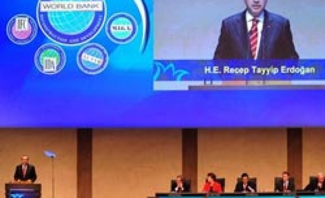Turkey's PM addresses at inauguration of IMF-W.Bank meetings