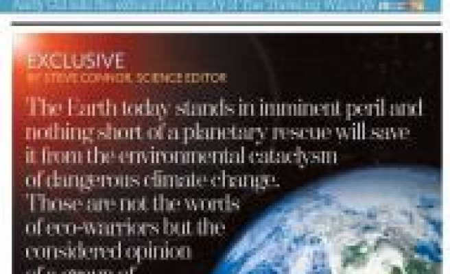 Scientists warn Earth is in 'imminent peril'