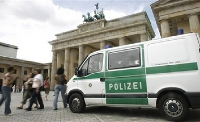 German police detains 38