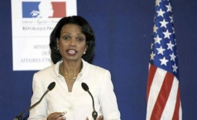 Rice still defends US policy despite Mideast strife