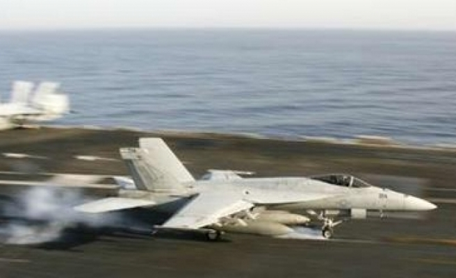 India left protests US carrier