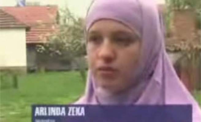 Kosovars call for freedom after student expelled over headscarf