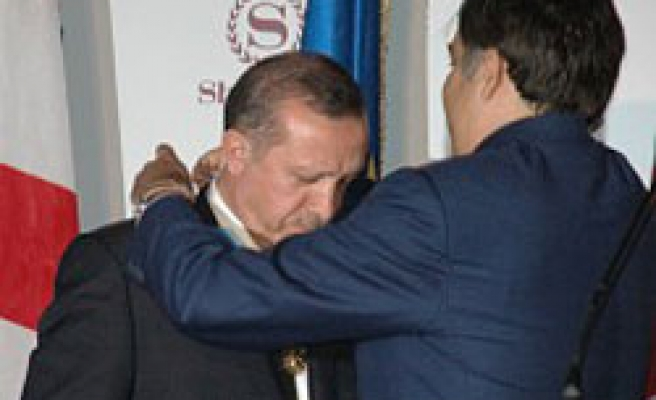 Turkey's PM decorated with state medal in Georgia