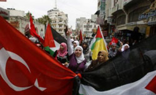 World rallies protest Israel with Palestinian-Turkish flags / PHOTO