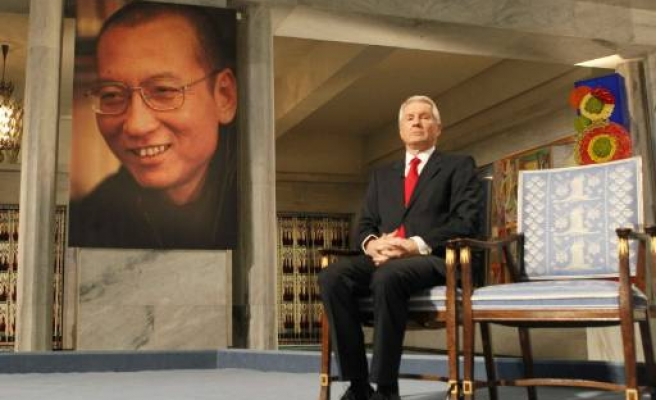 Nobel prize awarded with empty chair for Chinese activist