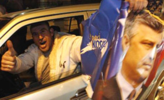 Kosovo PM claims victory, coalition seen