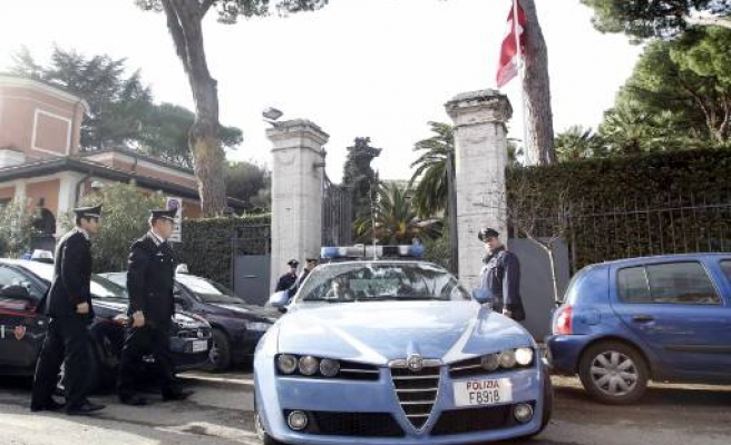 Package explodes at Swiss embassy in Rome