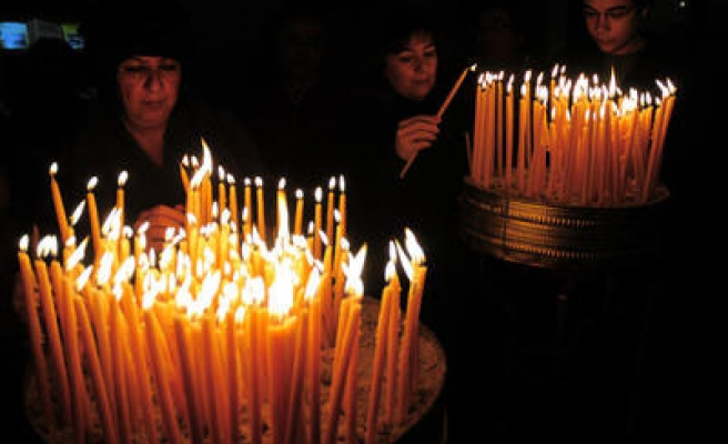 Christmas ceremony held in St Antuan Church in Istanbul