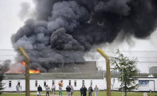 Low-security British prison on fire after riot