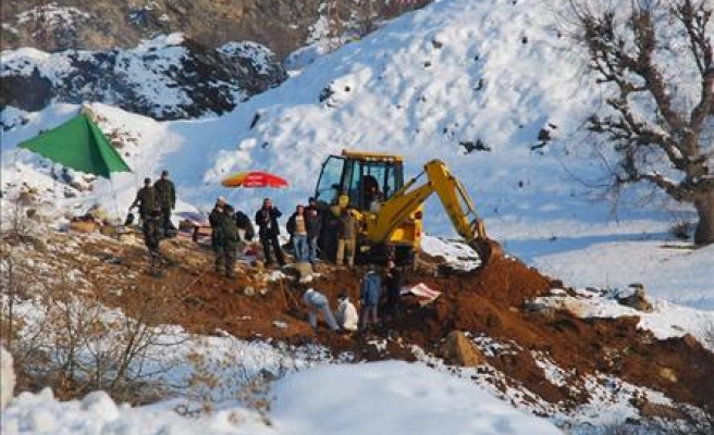 Bones unearthed in Turkey belong to PKK members