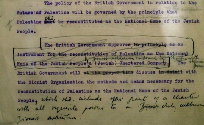 Israel's foundation laid by the Balfour Declaration