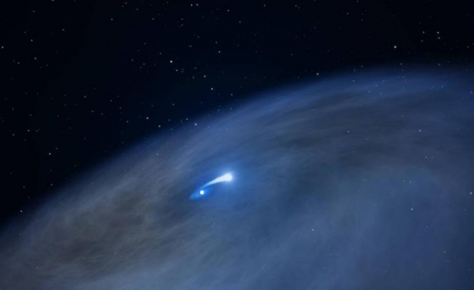 NASA's Hubble catches cannibal star digesting companion
